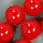 12mm Red Shell Pearl Round Beads 16pcs