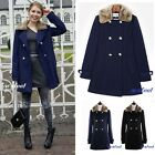 Double Breasted navy black coat fur Collar christmas gift gold Parka jacket sexy