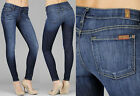 $178 NWT 7  FOR ALL MANKIND JEANS LEGGINGS SECOND SKIN NEW YORK DARK NYD 24-32