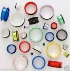 """Plugs Pair of Neon Steel Single Flares 9/16"""" to 14G in Many Colors #2"""