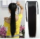 """20"""" 50CM long Clip in Human Hair Extensions High Ponytail Black Brown Blonde"""