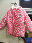 HELLO KITTY PINK/WHITE WINTER JACKET W/HOOD RETAILS $75.00 IN SZ 4 & 5/6