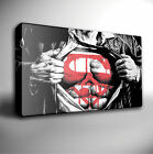 SUPERMAN CHEST ICONIC FILM - GICLEE CANVAS ART *Choose your size