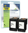 2 Remanufactured HP 301XL Black Ink Cartridges for Deskjet Printers