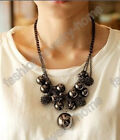 Fashion Sexy Big Black Bead Charming Choker Necklace HOT!!!