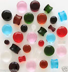 "Plugs Pair of 5/8"" Facet Cut Crystal Saddles in Assorted Colors"