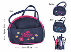 Small Cute Girls, Toddlers Princess Embroidered Denim Handbag Purse. Great gift!