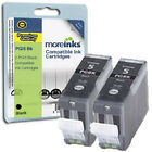 2 Compatible PGI-5BK Black Chipped Ink Cartridges for Canon Pixma Printers