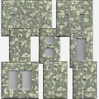 Army Digital/Digi Desert Camo/Camouflage Light Switch Plates & Outlet Covers