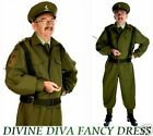 Mens Costume Home Guard WW2 1940s 40s  Dads Army Military Uniform Fancy Dress