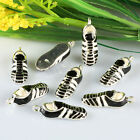 Enamel Mini SPORT SHOES Silver Plated Pendant Charm Spacer Beads Metal Findings