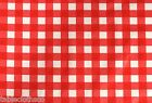 SCARLET PICNIC PVC OILCLOTH WIPE CLEAN COVER TABLE CLOTH CO choose the length