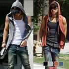Mens Beach sport Casual Slim Fit Hoody sleeveless T-shirt Vest Tops  H722 4color
