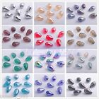 20pcs Faceted Glass Crystal Charms Findings Teardrop Spacer Loose Beads 10x15mm
