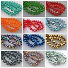 35 Faceted Glass Crystal Rondelle Diy Finding Spacer Beads12x8mm Without Plating