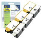 6 Compatible Advent ABK10 / ACLR10 Black / Colour Ink Cartridges for Printers