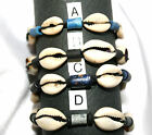 "9.5"" Cowry Shell & Leather Cord Ankle Bracelet Anklet"