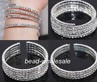 Wedding Bridal Austria Crystal Rhinestone Bangle Bracelet Cuff Wristband