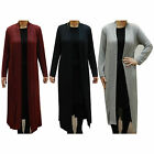 New Ladies Long Length Boyfriend Women Maxi Cardigans S-XL