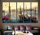 Italy Venice Gondolas on Grand Canal Modern Canvas Print Set Of 5 READY TO HANG