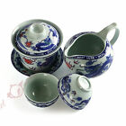 4pcs Porcelain Dragon phoenix Gaiwan Pitcher teacup Chinese Gongfu Tea set 130ml