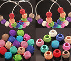 20pcs mixed color Mesh Beads Spacer For making earrings Round/Cube U Pick