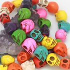 20pcs Man-made Turquoise Skull shaped Spacer Beads For Bracelet 11colors