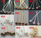 20pcs Antique Silver Golden Tone Long Head Pins Finding U Pick Color