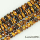 Gorgeous Natural Tiger's Eye Gemstone Abacus Rondelle Loose Beads 15.5""