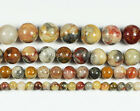 """Gorgeous 8mm/10mm Crazy Lace Agate Round Ball Loose Beads 15.5"""""""