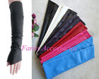 Fingerless Faux Leather Opera Evening Party Costume Long Gloves Arm Protector