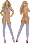 Woman's Sexy Lingere 3PC Set Bra Thong and Matching Stockings Lingerie O/S NEW