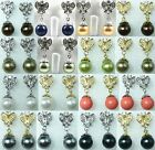18 colors12mm white/pink/gray/black/red/blue/green shell pearl butterfly earring