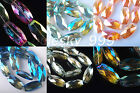 32x16mm Charms Long Oval Bracelet&Necklace Finding Glass Crystal Spacer Color