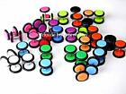 FAKE 8mm Flesh Plug Ear Stretcher Cheater Expanders Earrings with 2 0 rings