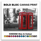 London Telephone Box CITY  Canvas Art Print Box Framed Picture Wall Hanging BBD
