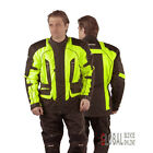 RAYVEN FLUO JACKET Fluorescent Yellow Waterproof CE protect Motorcycle Motorbike