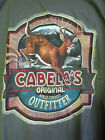 Cabela's White Tail Buck Deer Large XL Long Sleeve T-shirt Green Hunting NEW NWT