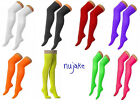 New Over The Knee Thigh High Ladies Plain Cotton + Lycra Socks Sox Party Sock