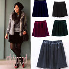 Popular Waisted Soft Velvet Skater Pleated A-line Elasticised Skirt YSK0062
