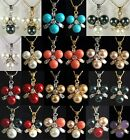 24 color! 8mm white/pink/red/black/yellow/blue shell pearl purple jade pendant