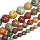 "Smooth Round Natural Colorful Picasso Beads 15.5"" 4mm 6mm 8mm 10mm 12mm Pick Siz"