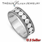 mens sterling silver 7mm bali design wedding band ring size 7 8 9 10 11 12 women