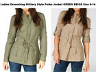 LADIES UK SIZE 8-12 DOUBLE BREASTED TRENCH COAT MAC JACKET BLAZER MILITARY STYLE