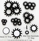 Pair of Black Sawblade 'O' Rings - 9 Sizes