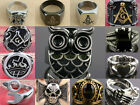 Stainless Steel American Religion The Thor Totem Masons Logo Cross Finger Rings