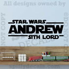 Star Wars Sith Lord Personalized Custom Name Quote Vinyl Wall Decal Sticker $11.96 USD