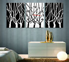 Black & White Art Tree Decorative Canvas Print Set Of 3  Framed Ready To Hang