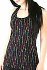 EMILY THE STRANGE~ BONES BLACK MULTI COLOR TANK TOP T SHIRT NEW LICENSED