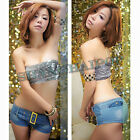Denim Hot Pants Slim Booty Low Waist Shorts Belt Jean Sexy Women Tight Mini Lady